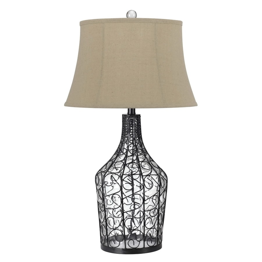 Axis 31-in 3-Way Iron Wire Indoor Table Lamp with Fabric Shade