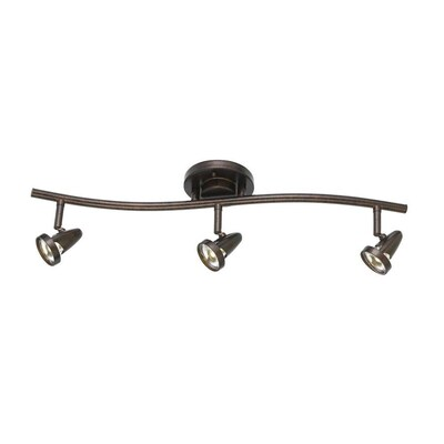 Cal Lighting Serpentine 3 Light 24 75 In Rust Dimmable Led