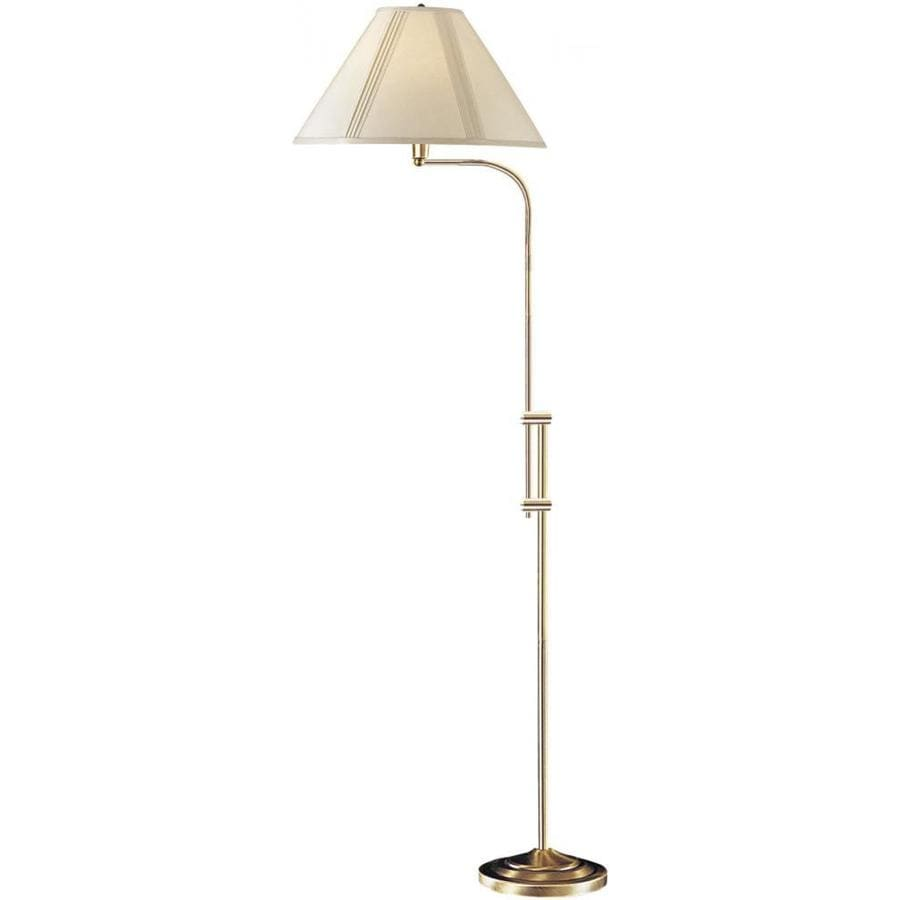 Axis 67-in Antique Bronze 3-Way Torchiere Floor Lamp with Fabric Shade