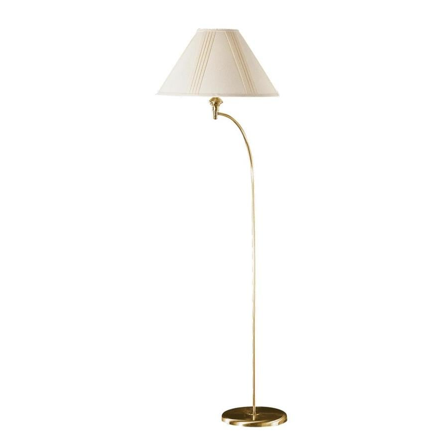 Axis 66-in Antique Bronze 3-Way Torchiere Floor Lamp with Fabric Shade