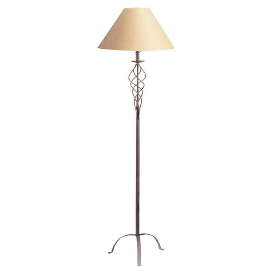 Axis 60-in 3-Way Switch Rust Torchiere Indoor Floor Lamp with Fabric Shade