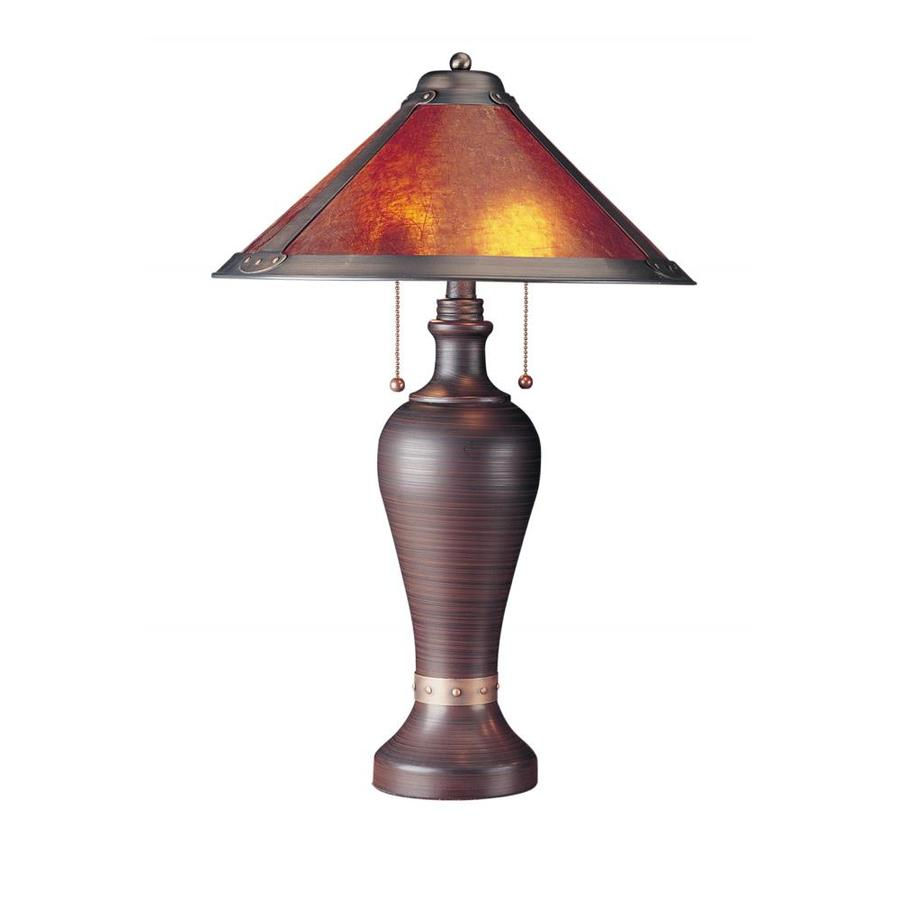 Axis 26-in 3-Way Rust Indoor Table Lamp with Fabric Shade