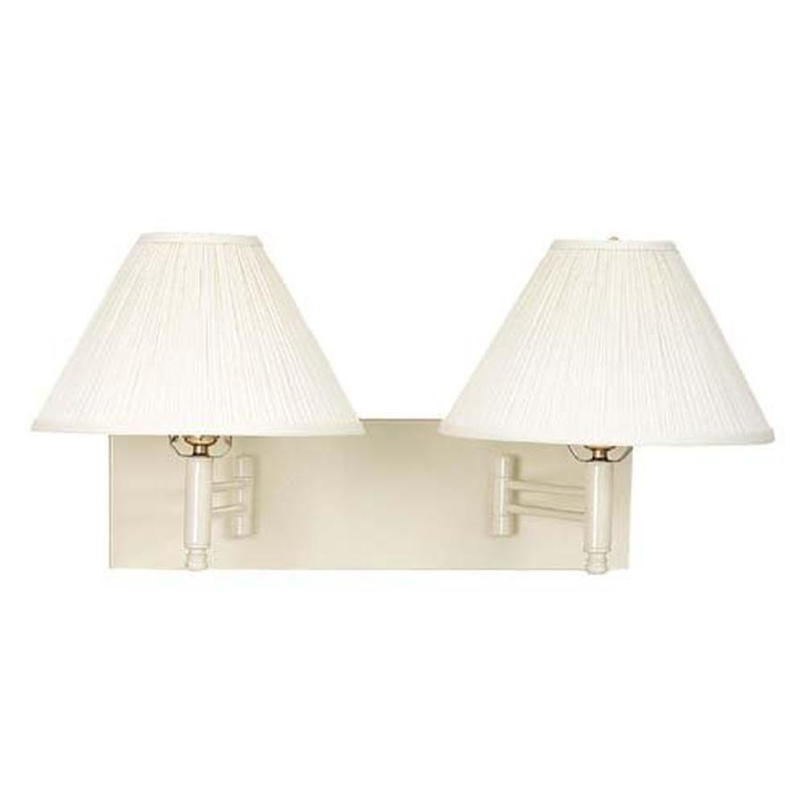 Axis 20-in W 2-Light Beige Arm Hardwired Wall Sconce