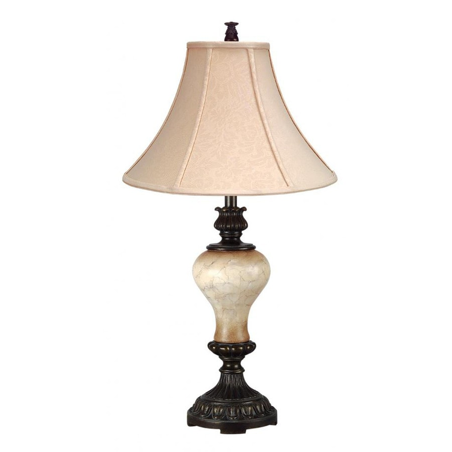 Axis 32-in 3-Way Ivory Indoor Table Lamp with Fabric Shade