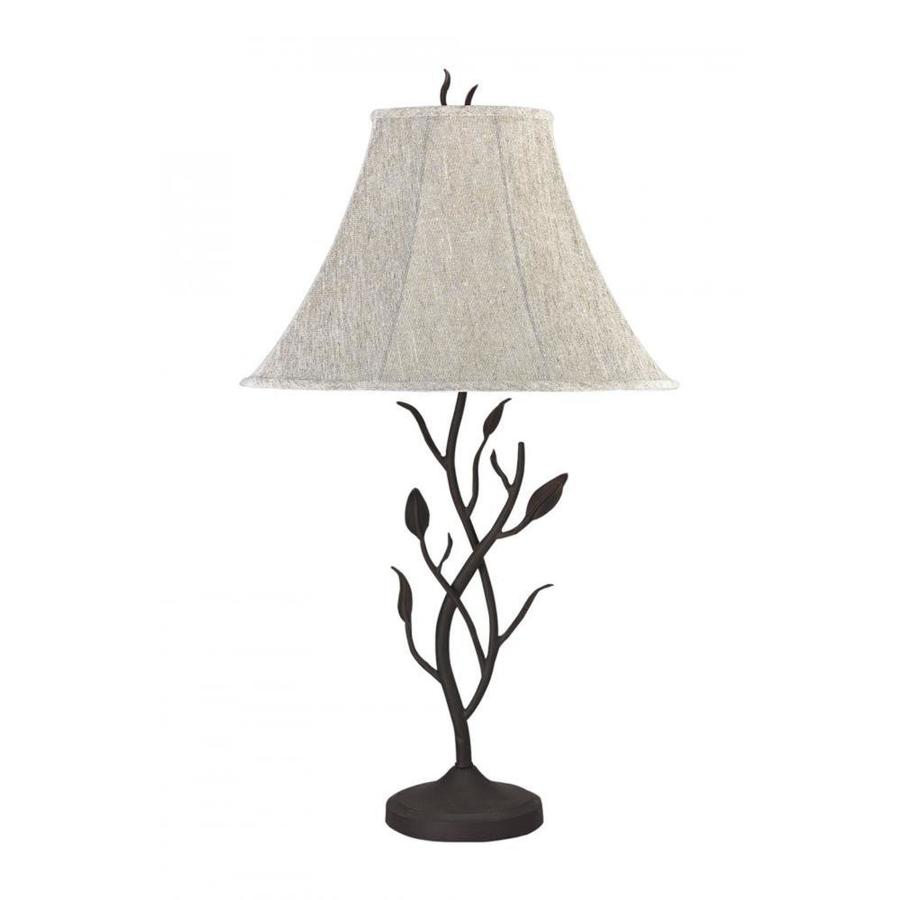 matt black electrical outlet 3 way switch table lamp with fabric shade. Black Bedroom Furniture Sets. Home Design Ideas