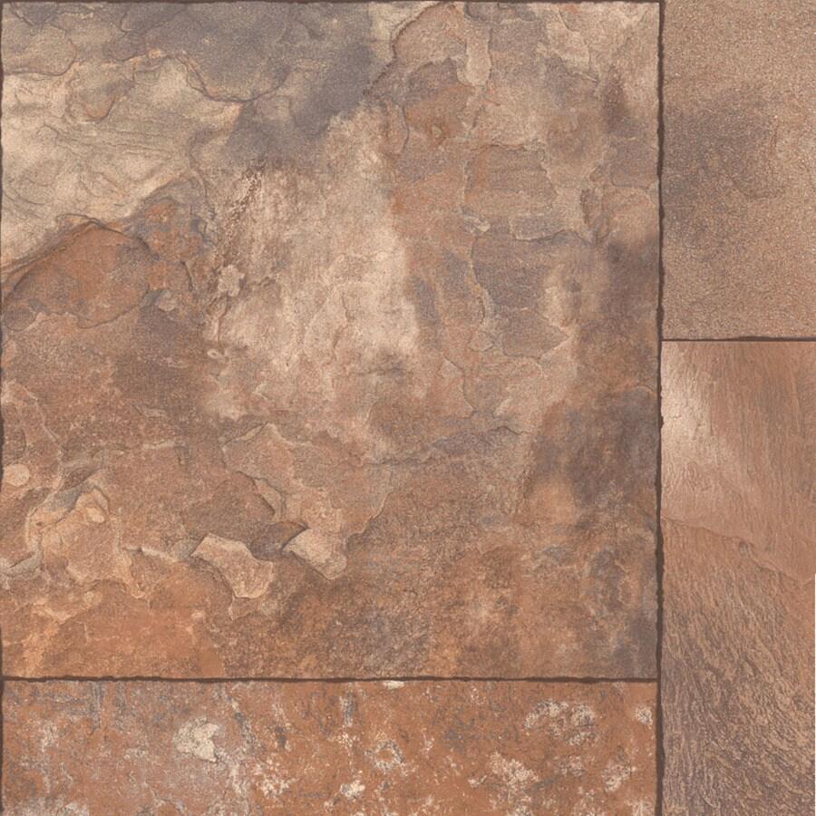 Shop congoleum 12 ft w fireside geometric low gloss finish for Congoleum flooring