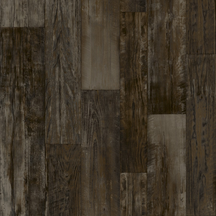 Congoleum ArmorCore Farmhouse Timber 12-ft W x Cut-to-Length Steel Wool Wood-Look Low-Gloss Finish Sheet Vinyl