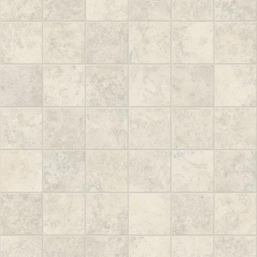 Congoleum ArmorCore Contempo 12-ft W x Cut-to-Length Ballet White Tile Low-Gloss Finish Sheet Vinyl