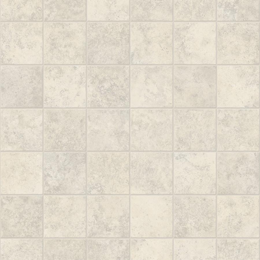 Congoleum ArmorCore 6-ft W x Cut-to-Length Ballet White Geometric Low-Gloss Finish Sheet Vinyl