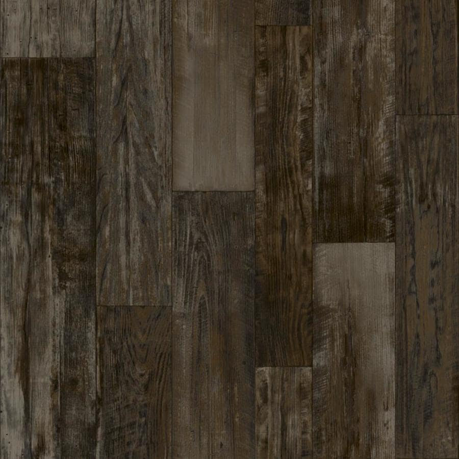 Congoleum ArmorCore Pro Farmhouse Timber 12-ft W x Cut-to-Length Steel Wool Wood-Look Low-Gloss Finish Sheet Vinyl