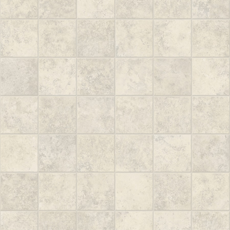 Congoleum ArmorCore Pro Contempo 12-ft W x Cut-to-Length Ballet White Tile Low-Gloss Finish Sheet Vinyl