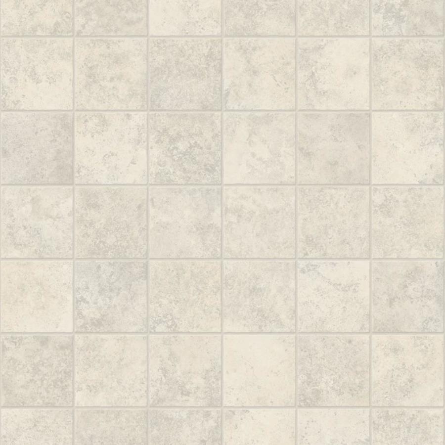 Congoleum ArmorCore UR Contempo 12-ft W x Cut-to-Length Ballet White Tile Low-Gloss Finish Sheet Vinyl