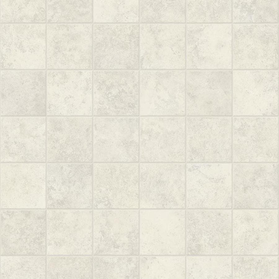 Congoleum ArmorCore Pro UR Contempo 12-ft W x Cut-to-Length Ballet White Tile Low-Gloss Finish Sheet Vinyl