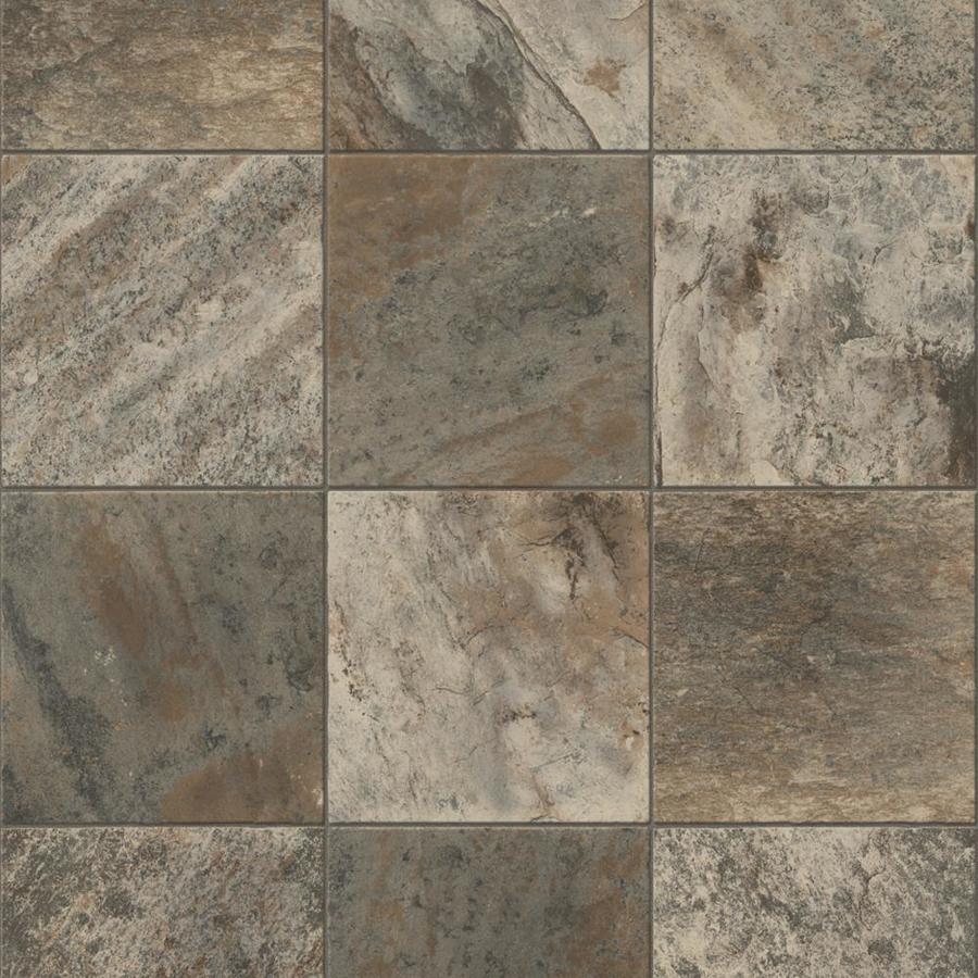 Congoleum ArmorCore Pro UR Valley Path 12-ft W x Cut-to-Length River Silt Tile Low-Gloss Finish Sheet Vinyl
