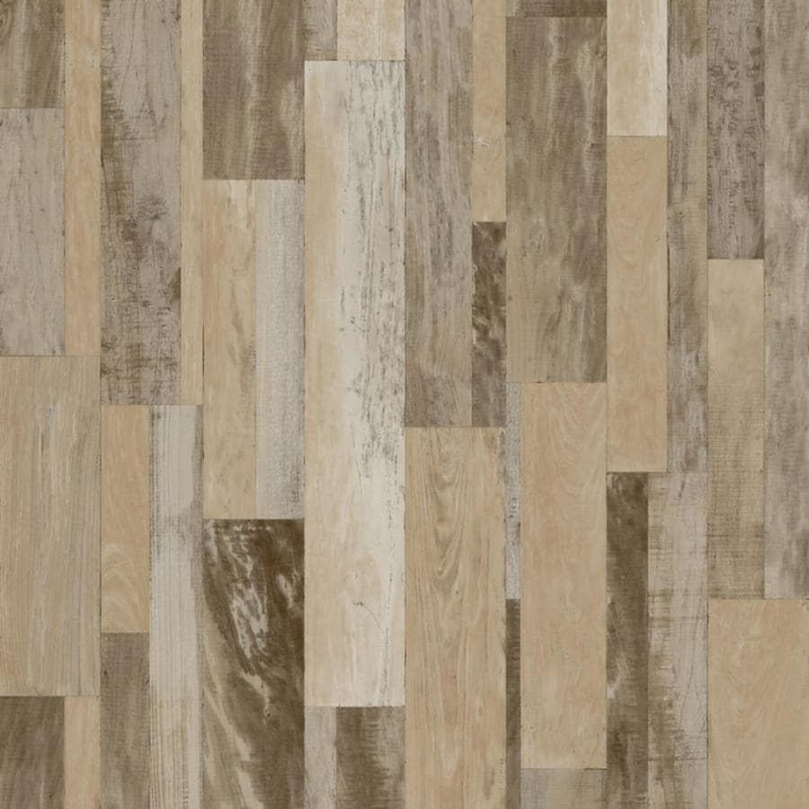 Shop congoleum edgewood 12 ft w x cut to length feather edge wood look low gloss finish sheet for Laminate sheet flooring