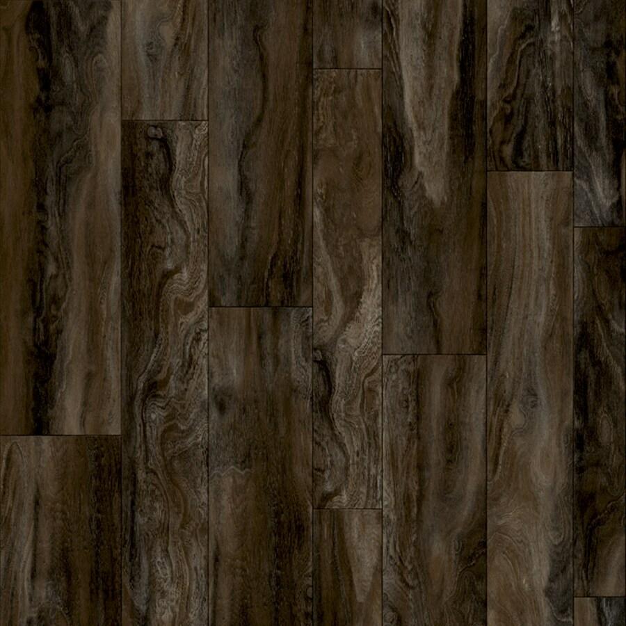 Congoleum Acacia 12-ft W x Cut-to-Length Dash Of Pepper Wood-Look Low-Gloss Finish Sheet Vinyl