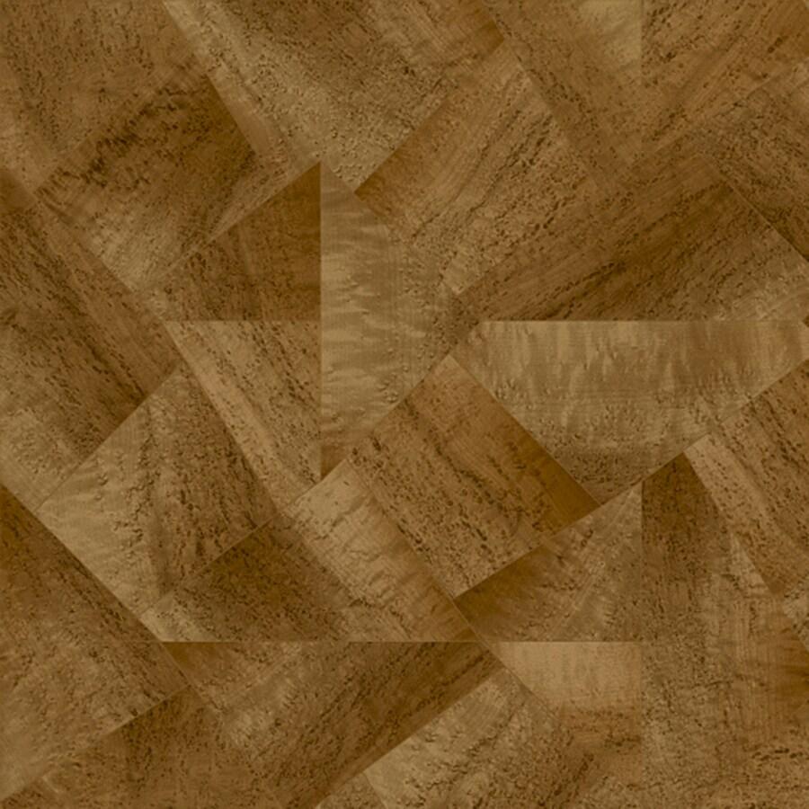 Congoleum Kaleidoscope 12-ft W x Cut-to-Length Roxbury Caramel Geometric Low-Gloss Finish Sheet Vinyl