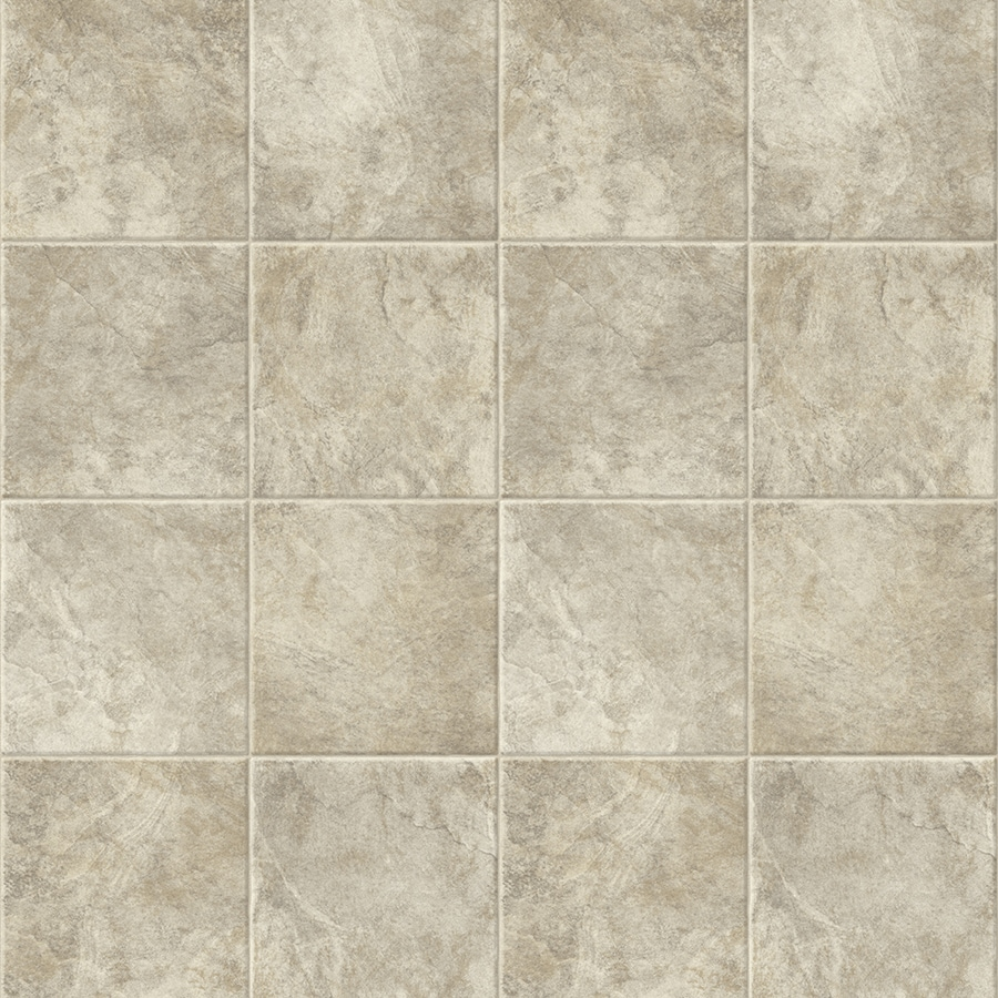Congoleum AirStep Plus Starlight 12-ft W x Cut-to-Length Full Moon Tile Low-Gloss Finish Sheet Vinyl