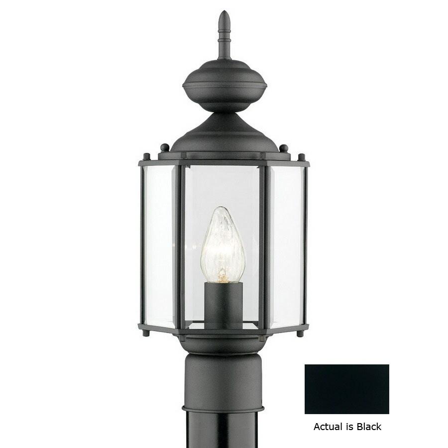Thomas Lighting Brentwood 16-1/4-in Black Pier Mount Light