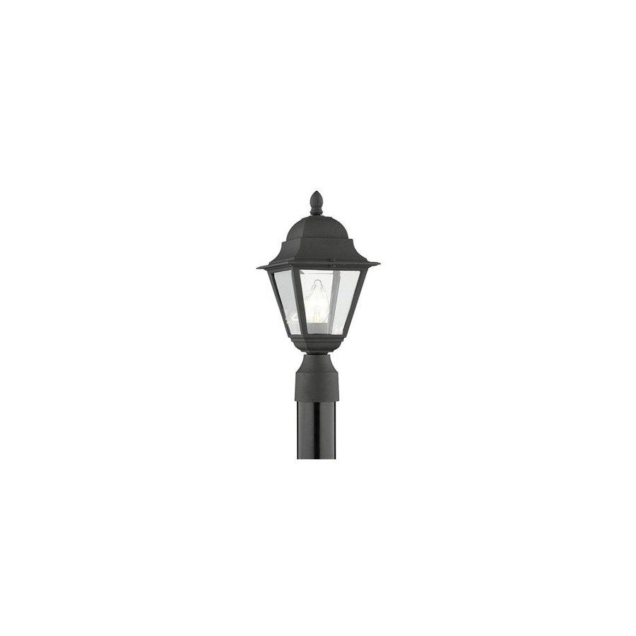 Thomas Lighting Windbrook 16-in Black Pier Mount Light
