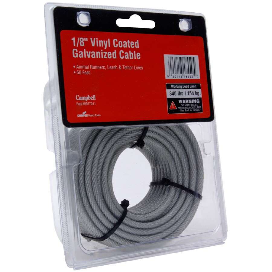 Campbell Commercial 50-ft Weldless Metal Steel Cable