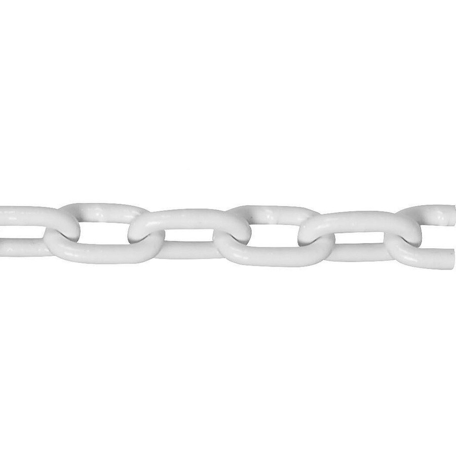 Campbell Commercial 1-ft 5/16-in Welded Galvanized and White Polycoat Steel Chain (By-The-Foot)