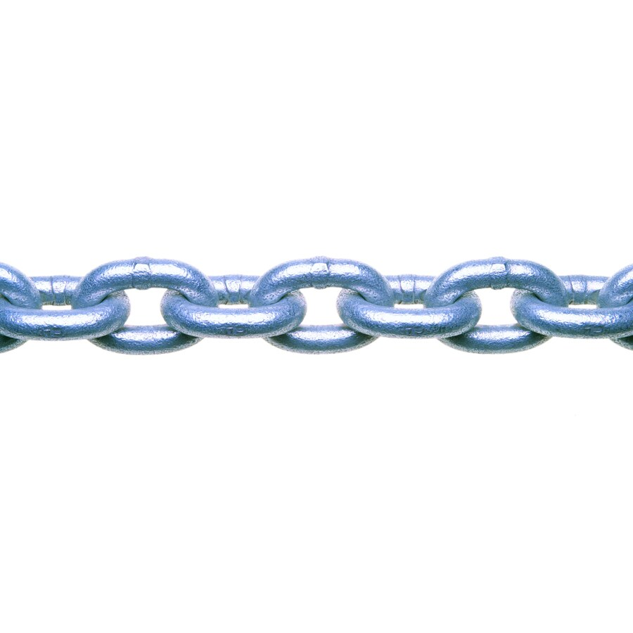 Campbell Commercial 1-ft 1/4-in Welded Galvanized Steel Chain (By-the-Foot)