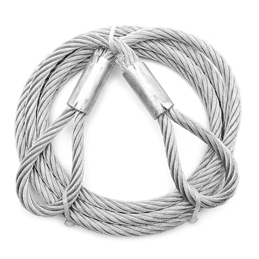Shop Campbell Commercial 1 Ft. 3/8-in Weldless Silver Steel Cable ...