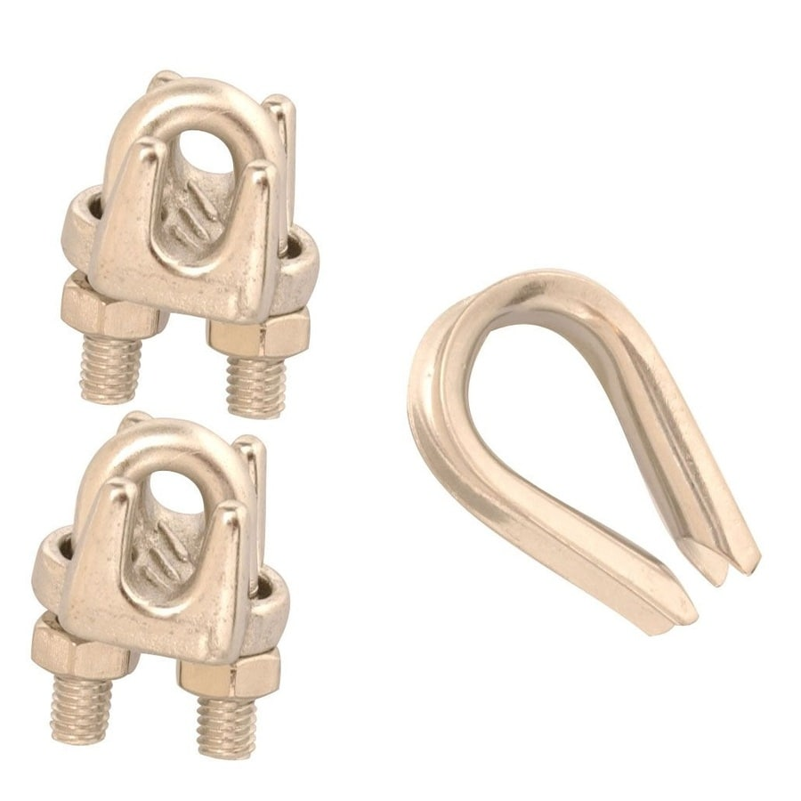 Covert 3/32-in to 1/8-in Stainless Steel Clamp Set
