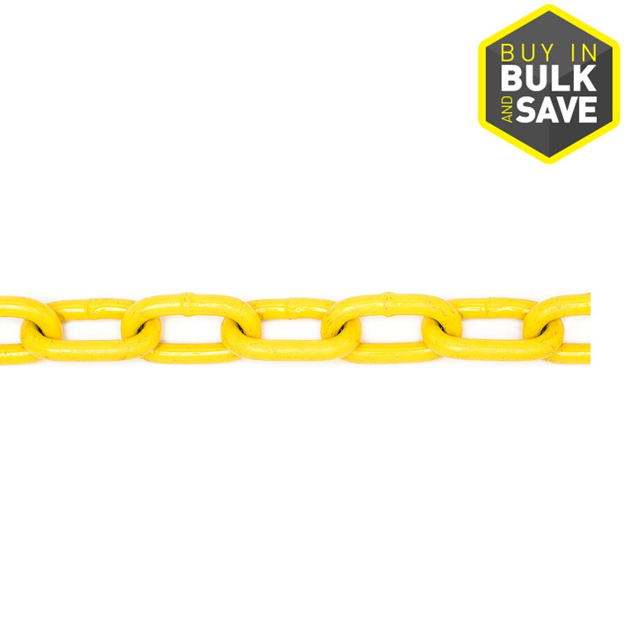 Campbell Commercial 1-ft 1/4-in Welded Yellow Steel Chain (By-the-Foot)