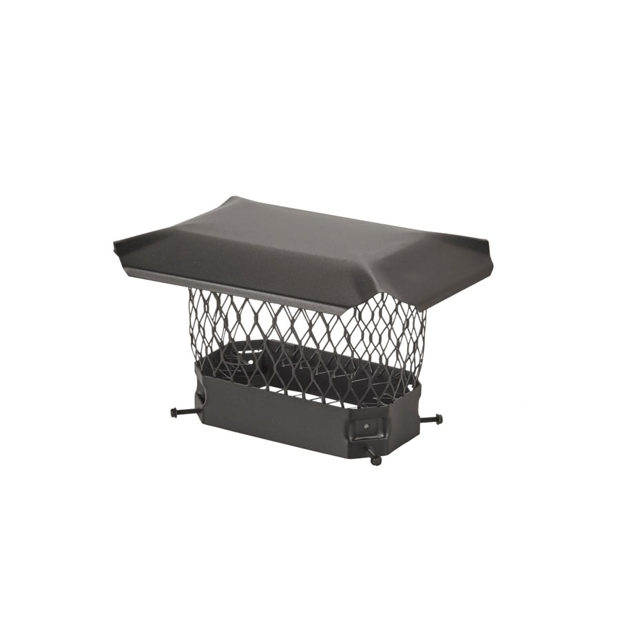 Shelter 5-in W x 9-in L Black Galvanized Steel Square Chimney Cap