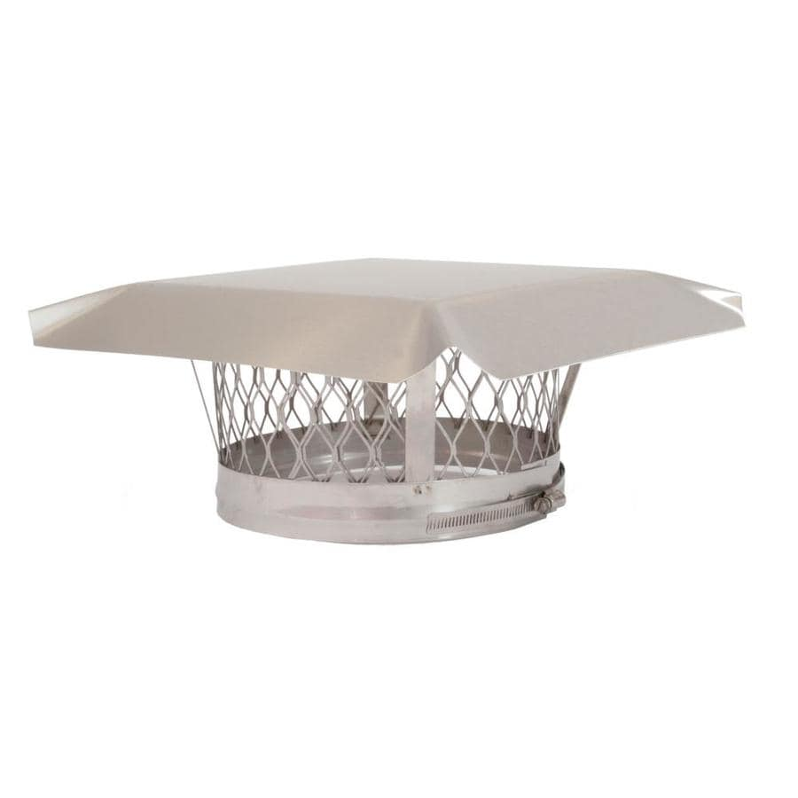Shelter 4-in W x 4-in L Stainless Steel Square Chimney Cap