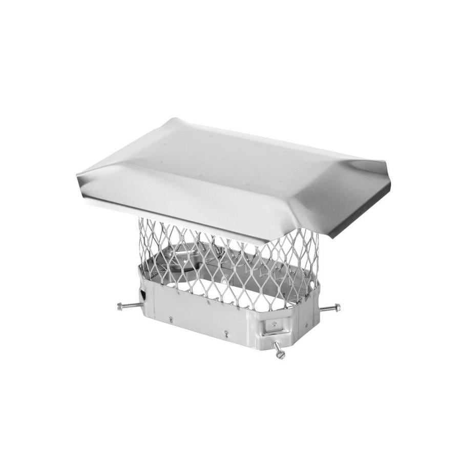 Shelter 5-in W x 9-in L Stainless Steel Square Chimney Cap