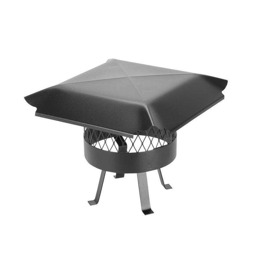 Shelter 10-in W x 10-in L Black Galvanized Steel Square Chimney Cap