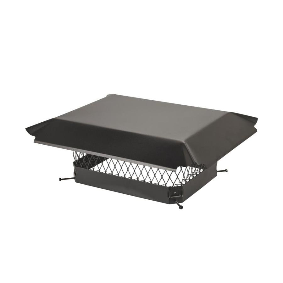 Shelter 12-in W x 16-in L Black Galvanized Steel Rectangular Chimney Cap