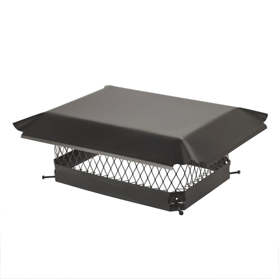 Shelter 13-in W x 18-in L Black Galvanized Steel Rectangular Chimney Cap