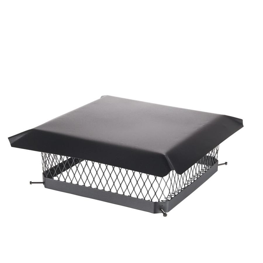 Shelter 18-in W x 18-in L Black Galvanized Steel Square Chimney Cap