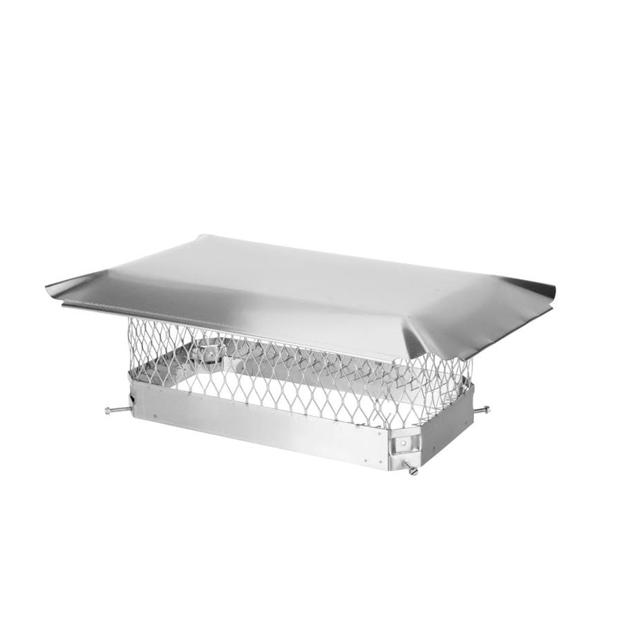 Shelter 9-in W x 18-in L Stainless Steel Rectangular Chimney Cap