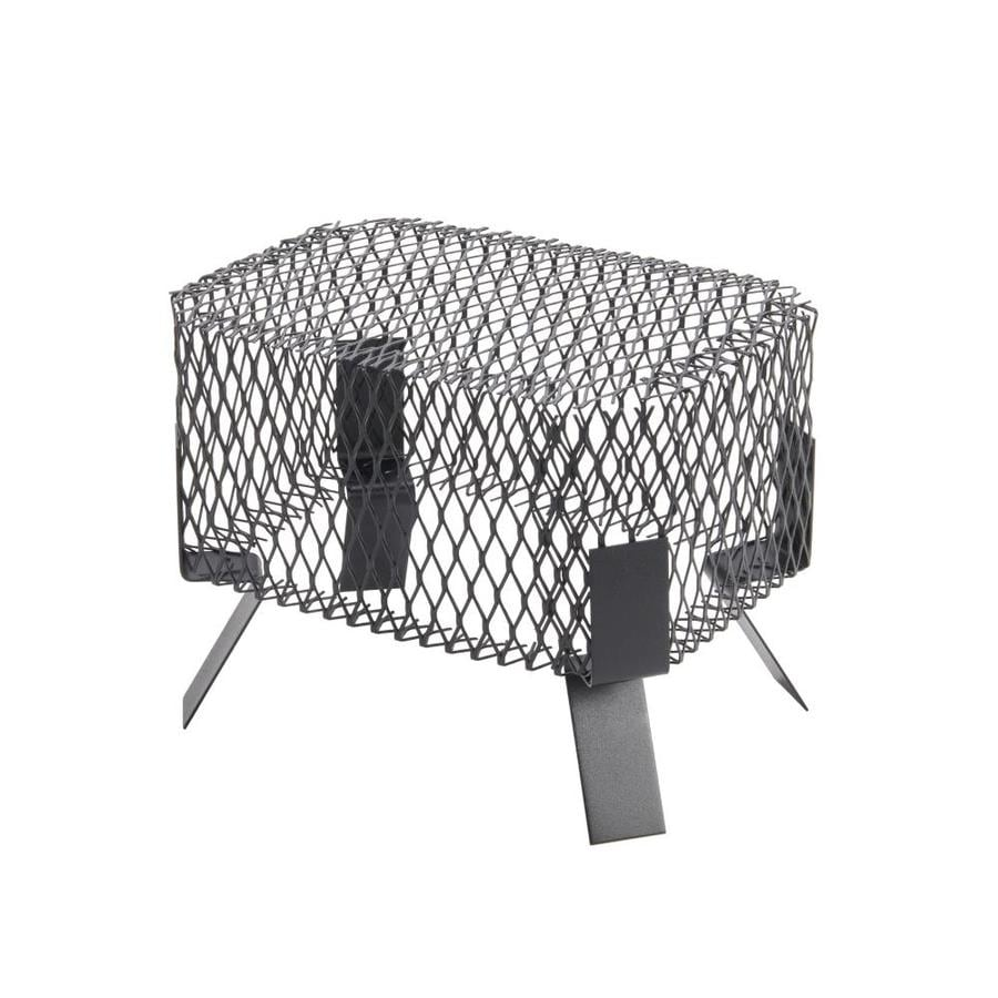 Shelter 8-in W x 12-in L Black Galvanized Steel Rectangular Chimney Cap