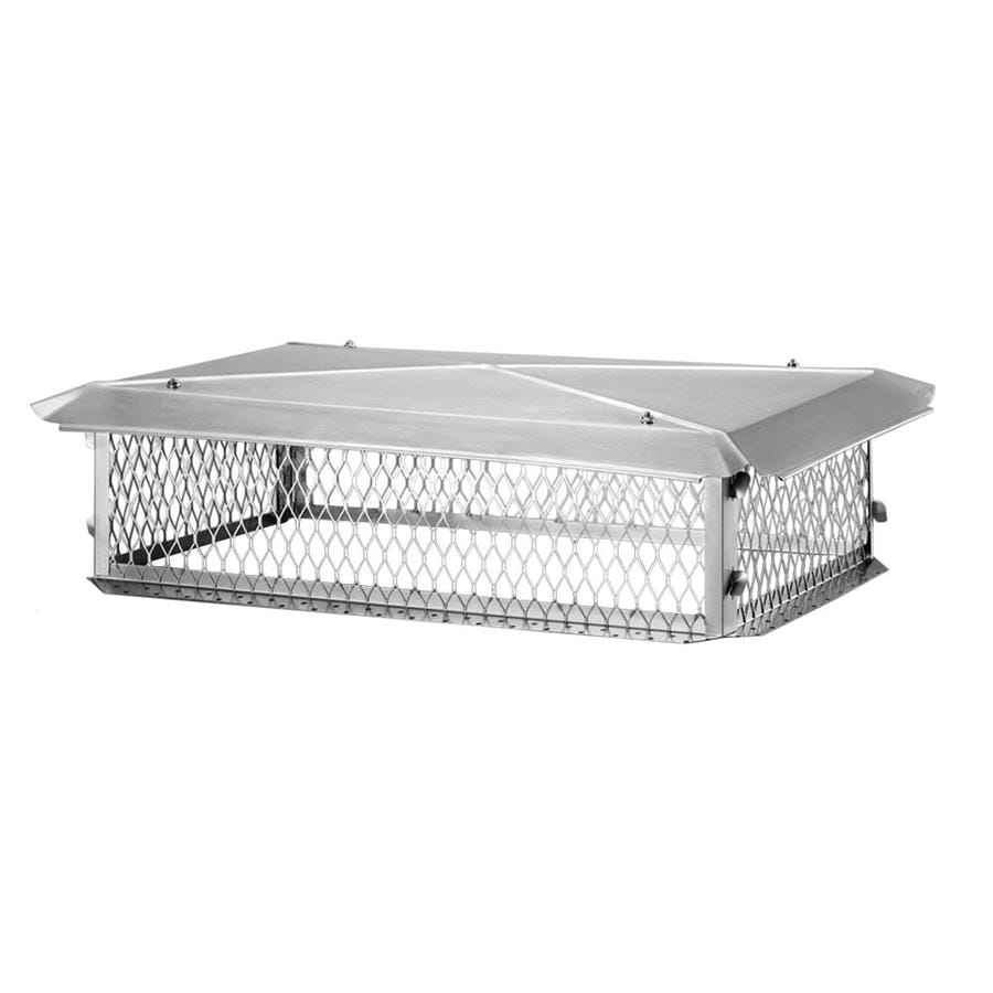 Shelter 13-in W x 19-in L Stainless Steel Rectangular Chimney Cap