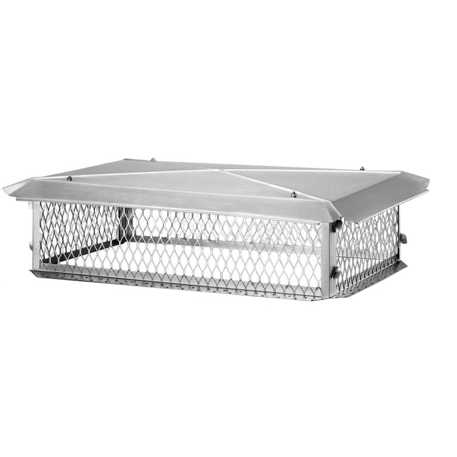 Shelter 14-in W x 30-in L Stainless Steel Rectangular Chimney Cap