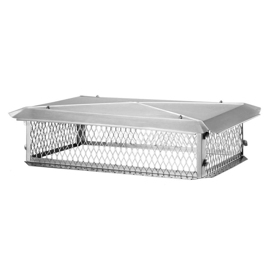 Shelter 15-in W x 37-in L Stainless Steel Rectangular Chimney Cap