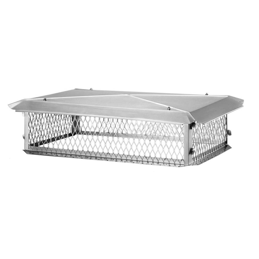 Shelter 17-in W x 41-in L Stainless Steel Rectangular Chimney Cap