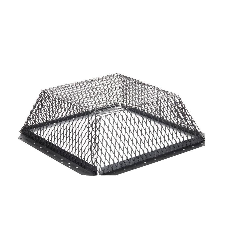 Shelter 16-in W x 16-in L Black Galvanized Steel Square Chimney Cap