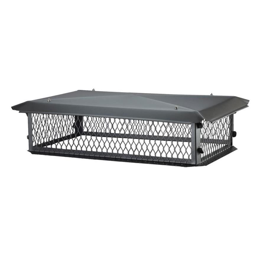 Shelter 14-in W x 26-in L Black Galvanized Steel Rectangular Chimney Cap