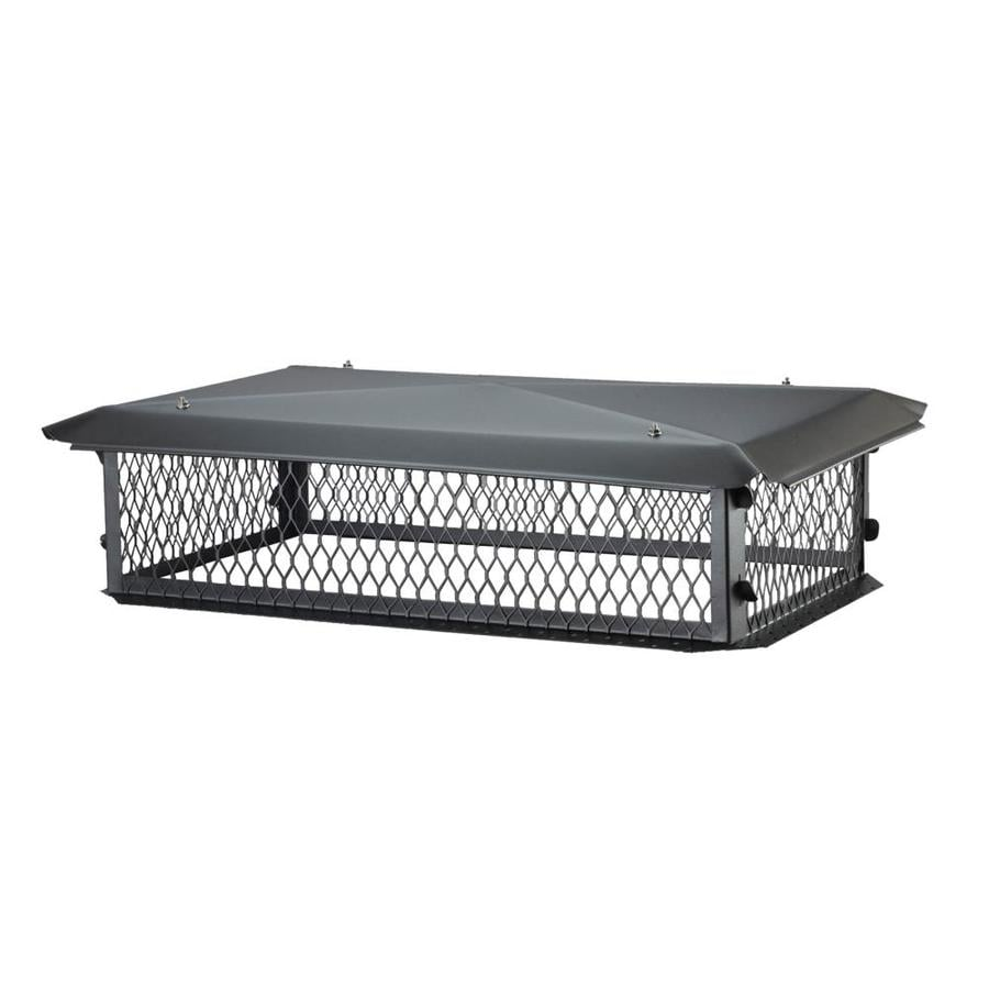 Shelter 17-in W x 35-in L Black Galvanized Steel Rectangular Chimney Cap