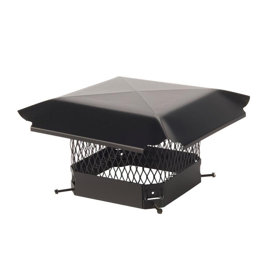 Shelter 9-in W x 9-in L Black Galvanized Steel Square Chimney Cap