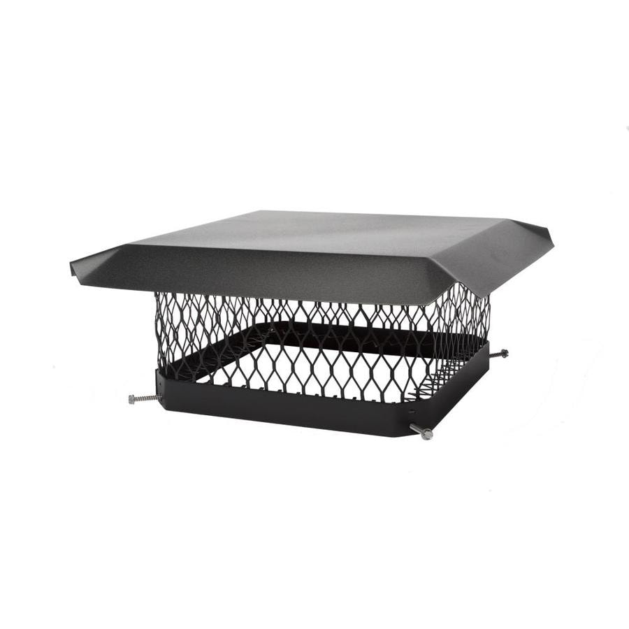 Shelter 17-in W x 21-in L Black Galvanized Steel Rectangular Chimney Cap