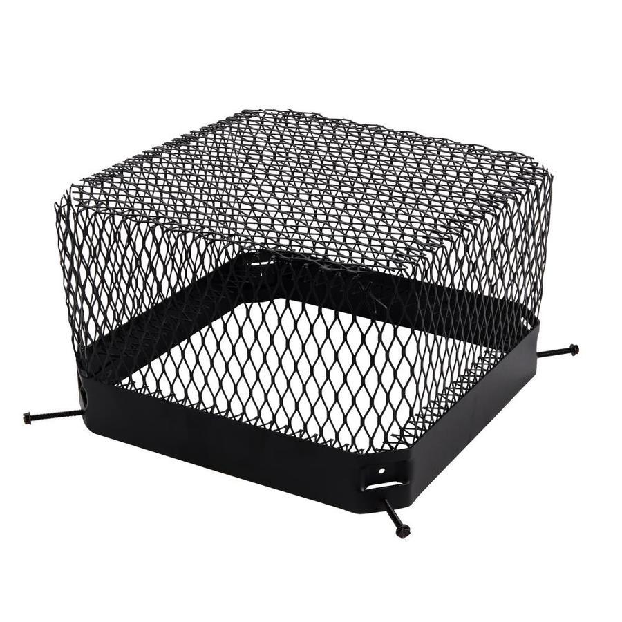 Shelter 13.5-in W x 13.5-in L Black Galvanized Steel Square Chimney Cap
