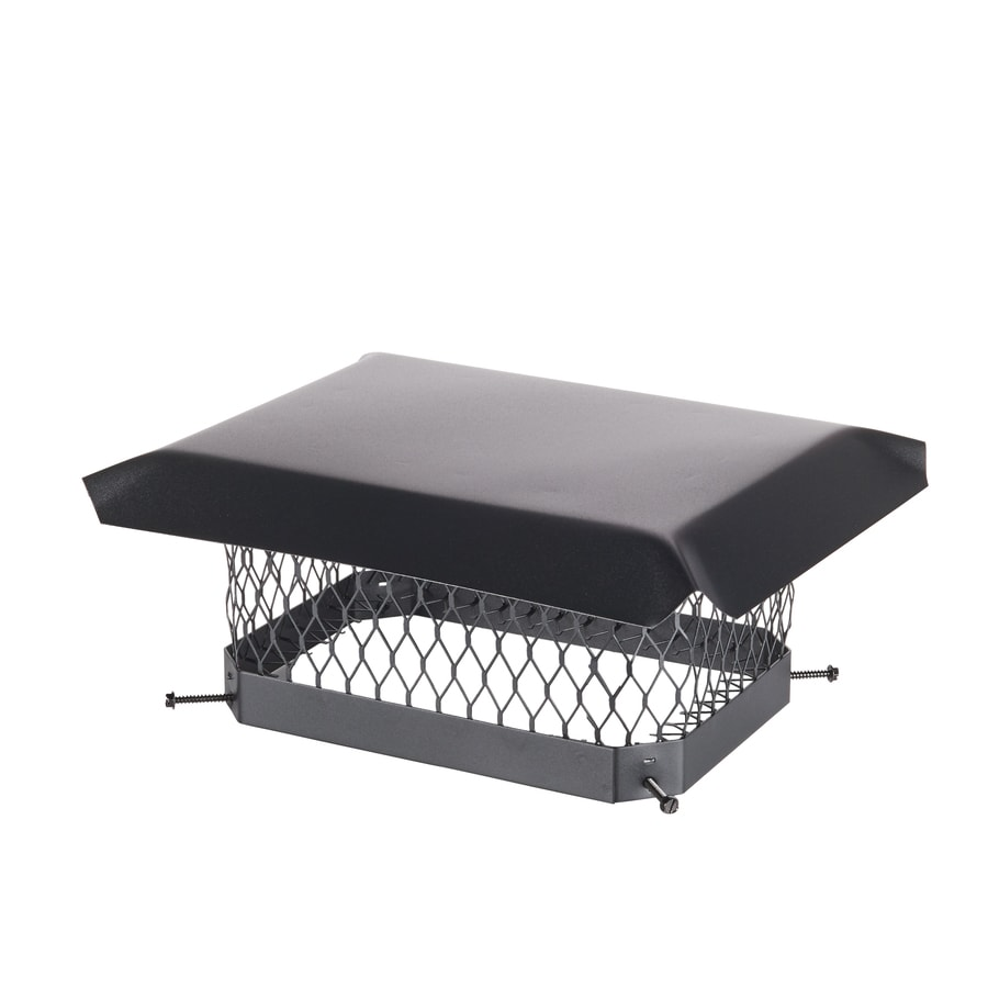 Shelter 9-in W x 13-in L Black Galvanized Steel Rectangular Chimney Cap
